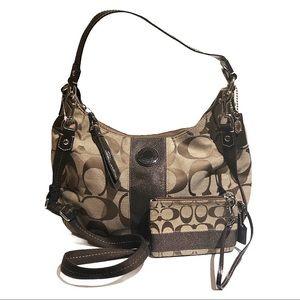 COACH | NWOT Monogram Bag & Wristlet Set